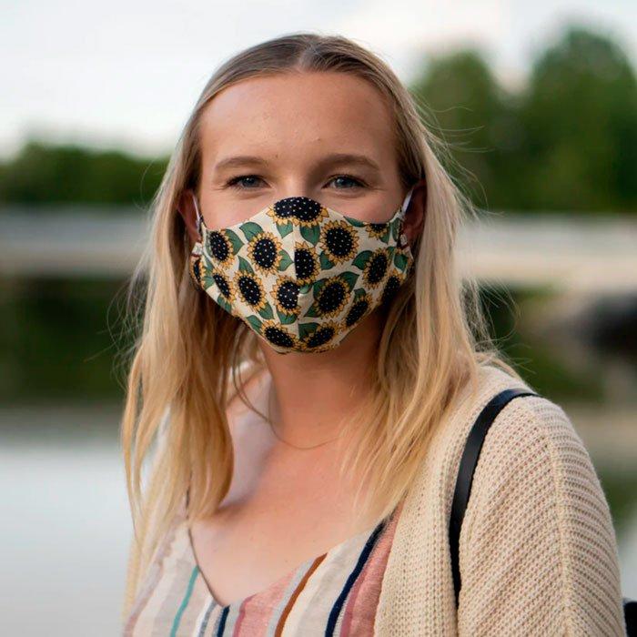 Consejo 3: Utiliza mascarillas con interior de algodón