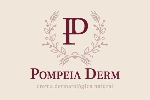 Nueva imagen de Pompeia Derm: icono y logotipo